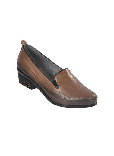 Castle Black 4552 Deri Füme Kadın Günlük Ayakkabı Füme